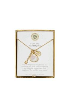 Spartina 449 Women Gold-Tone Sea La Vie Mermazing Trio Pendant Necklace - Gold - One Size