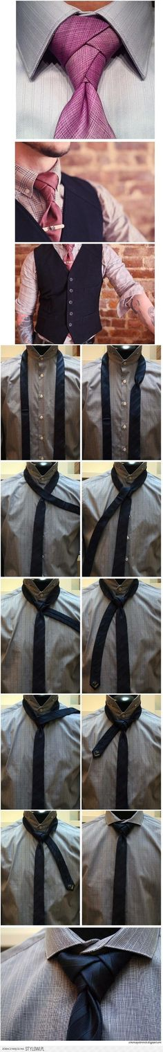 A new look in a tie knot...adds a bit of new style. Liking it!