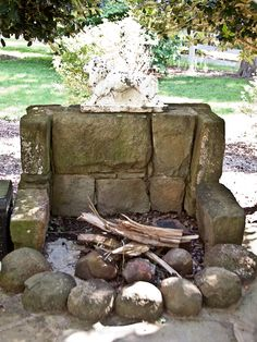 smaller decorative open air fireplace