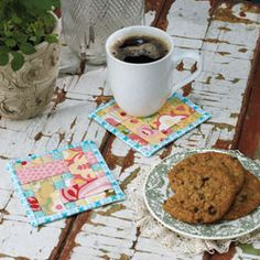 """FREE project: """"Woven Mug Rugs"""" (from Create & Decorate Magazine)"""