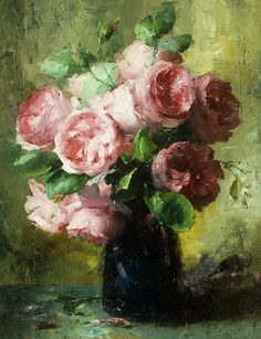 Frans Mortelmans Pink Roses In A Vase oil painting for sale; Select your favorite Frans Mortelmans Pink Roses In A Vase painting on canvas or frame at discount price. Painting Still Life, Still Life Art, Paintings I Love, Beautiful Paintings, Flower Paintings, Oil Paintings, Arte Floral, Art Oil, Love Art