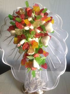 bridal bouquet while sweets
