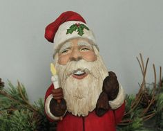Hand Carved Santa, Old World Santa #27 Wood Sculpture, Collectable Holiday Decor, Christmas Gift, One of a Kind home decor
