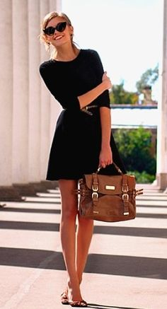 simple & chic black dress