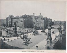 Berlin, Kaiser Wilhelm Brücke mit Stadtschloss, circa 1885