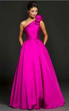 Princess One Shoulder Empire Sleeveless Floor-length Evening Dresses zbh091