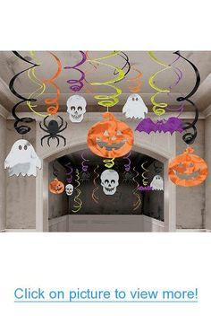 Halloween Hanging Swirl Decorations 30 pack (Standard)