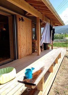 ウッドデッキ Japanese Home Design, Japanese House, Japanese Architecture, Wooden House, House Floor Plans, Traditional House, Home Deco, Interior And Exterior, Home And Garden
