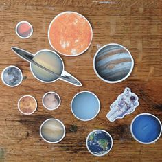 12 Outer Space Astronomy Solar System Stickers by UsagiHop on Etsy