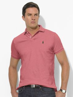 Classic-Fit Mesh Polo - oin Red Slate Heather ($49.99, Ralph Lauren)