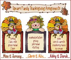 A full Thanksgiving dinner is a lot of work and responsibility! Why not divvy up the portions and share the load? Keep your loved ones in the loop of who's bringing what... always with a DJ smile! This sample was made with 'November Doodlers'!