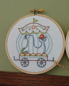 Embroidery Patterns IL CIRCO Hand Embroidery Patterns Vintage