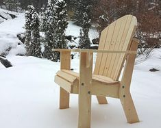 Adirondack Chair Plans by TheBarleyHarvest on Etsy Garden Chairs, Patio Chairs, Outdoor Chairs, Outdoor Decor, Dining Chairs, Plans Chaise Adirondack, Adirondack Chairs, Pallet Furniture, Rustic Furniture
