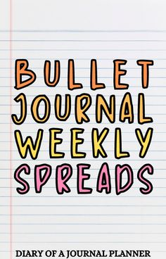 Get planner inspo from these 25 stunning bullet journal weekly spreads! #weeklyspreads #bulletjournalinspiration Bullet Journal Hacks, Bullet Journal Printables, Bullet Journal Layout, Bullet Journal Inspiration, Bujo Monthly Spread, Weekly Planner Template, Journalling, Journal Pages, Spreads