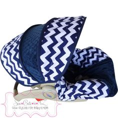 Navy+Chevron+Infant+Car+Seat+Cover+by+sewcuteinaz+on+Etsy,+$65.00
