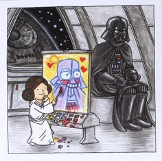 Making Darth Vader a Dad: Jeffrey Brown on His All-Ages Star Wars Books – Exclus… Bd Star Wars, Star Wars Books, Star Wars Comics, Star Wars Fan Art, Star Trek, Star Wars Trivia, Star Wars Facts, Star Wars Humor, Darth Vader And Son