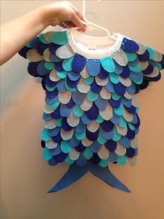 Easy costume for toddlers and baby's rainbow fish                              …