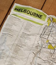 Crumple Maps: Totally waterproof, fool-proof, lightweight and tear resistant