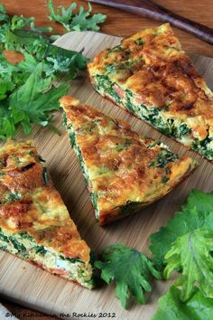 Kale Frittata - A Healthy Breakfast Casserole pinned with Pinvolve