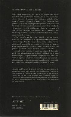 Actes Noirs - 2008-05 - Camilla Läckberg - La Princesse des Glaces - Verso