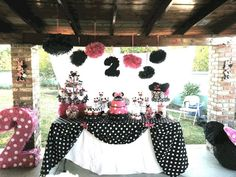 Love the way the table cloth is set up! #minniemouse #minniesbowtique