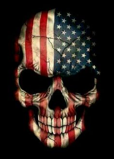 This unique design features the flag of The United States painted on an aggressive skull. The American colours cover the entire skull with large cracks snaking across the bone. This dark pattern is a unique way to show off your patriotism. Skull Tattoos, Tatoos, Flag Tattoos, Art Tattoos, Totenkopf Tattoos, Bild Tattoos, Arte Horror, Skull Design, Art Graphique
