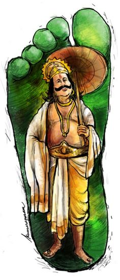 A quick illustration of the benevolent king Mahabali for Cucumbertown's Onam Special: God's Own Feast-ival. Full story here: http://www.cucumbertown.com/gods-own-feast-ival-onam