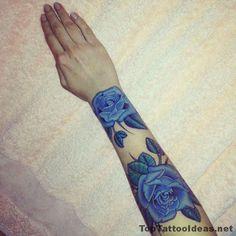 Blue Roses Tattoo Idea