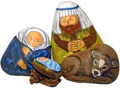 Unique Painted Rock Nativity Sets