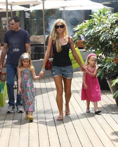 Denise Richards and her girls shop at Cross Creek in Malibu