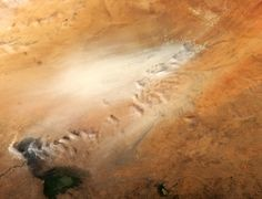 A dust storm in the desert of Chad. Picture: Barcroft Media