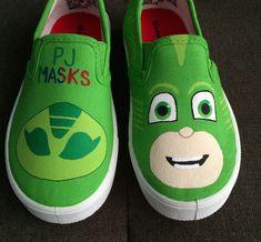 PJ máscaras zapatos - Gekko Boy por iHeartCraftLife en Etsy