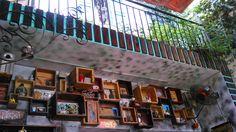 Crates. Cozy 81 Coffee Shop in Sai gon, Vietnam