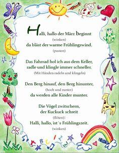Fingerspiel/ Bewegungsgeschichte Frühling