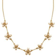 Forget-Me-Not Multi-Flower Necklace - Necklaces - Jewelry - The Met Store. So dainty,  yet so lovely!