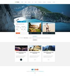 Travel Agency Responsive Hotel Online Booking Template by Nicola Mihaita, via Behance