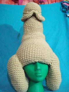 Penis Hat? It's like the Princess Leia hat evolved, and not in a good way.