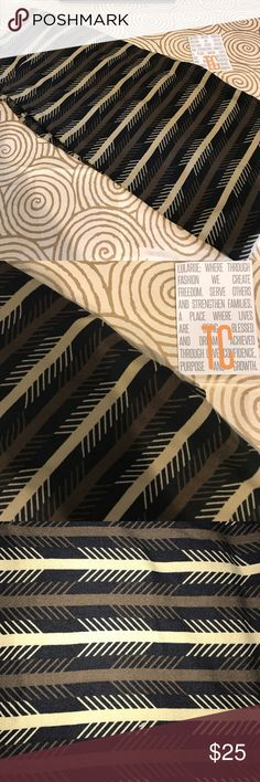 BNWT lularoe leggings TC black w/ tan & brown ⬆️ Rare and hard to find! BNWT lularoe leggings TC black w/ tan & brown horizontal arrows . Fits 12-22/24, Choose size 1X below, but know these are TC (tall and curvy) and fit sizes 12-22/24. Ask with questions! LuLaRoe Pants Leggings