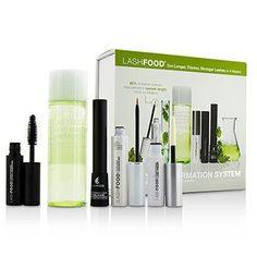 LashFood Lash Transformation System: (1x Eyelash Enhancer 3ml-0.1oz, 1x Lash Primer 4ml-0.13oz, 1x Mascara 4ml-0.13oz, 1x Liquid Eyeliner