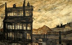 Love this Sheffield painting by Derrick Greaves, 1953. A Sheffield Lowery?
