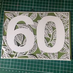 Handmade papercut birthday card with leaf detail