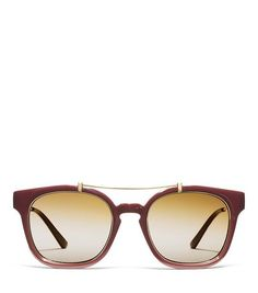 Tory Burch Metal Brow-Bar Sunglasses