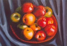 Manzanas en acrílicos