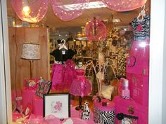 Pink and Black window display