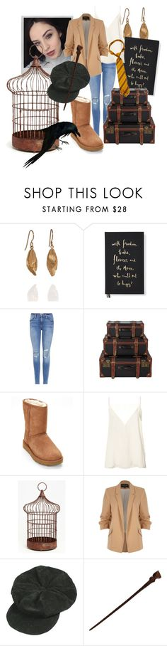 """Quinn- Back to School"" by rarimena ❤ liked on Polyvore featuring AURUM by Guðbjörg, Kate Spade, Frame, Polaroid, UGG, Anine Bing, The Import Collection, River Island and OC"