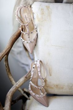 studded Valentino nude heels Photography by Alisha + Brook Photographers / alishabrook.com