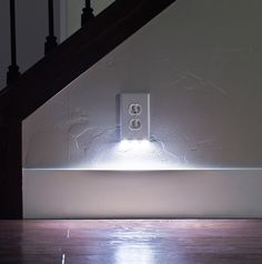 Placing guidelights up your hallway or down your staircase can involve bulky plug-in solutions or a professional and expensive installation. The SnapRays Guidelight simplifies the process by turning any standard power outlet into a night light without the need for re-wiring or batteries. This clever receptacle cover snaps onto an existing outlet and has built-in LED night-lights that turn on and off automatically. Visit snappower.com.