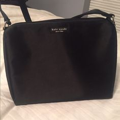 Kate Spade Purse | Black Kate Spade Purse | Black nylon | great condition | carrier once | Authentic | non smoker house kate spade Bags Shoulder Bags