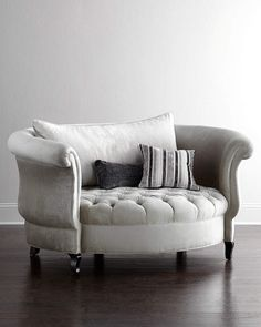Harlow Cuddle Chair by Haute House at Horchow.this cuddle chair is adorably sexy. LOVE THIS for the sitting room. Aka the living room.