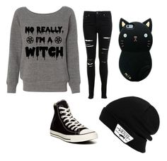 """I'm a witch"" by princess2000-1 on Polyvore featuring Miss Selfridge, Vans and Converse"